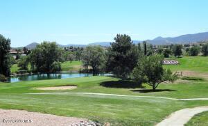 #18 Green, Lake & Weeping Willows and Mtn panorama