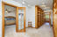 Master suite boasts its' own private library