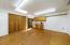 Built-in indoor workshop could also be a bedroom