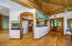 Open floor plan with kitchen off the living room
