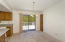 Kitchen/dining combo with patio door to spacious deck!