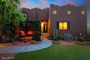 Inviting Courtyard with lovely landscaping