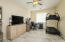 """Spacious Double Door Entry, 20"""" Tile Flooring, Lighted Ceiling Fan, Side Window with Vertical Blinds & 2 Tone Paint."""
