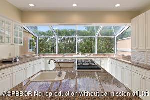 kitchen view with window