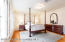 Master Suite on main level with hardwood floors