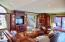 Family room entertainment and wet bar