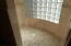 Large Custom Tile Shower with Privacy Glass for Natural Lighting
