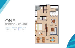 ONLY One Bedroom Floor Plan that has Bedroom with an Ocean View that can hold a KING BED and the bath has a Dual Vanity
