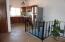 wrought iron railing, solid parota entry door