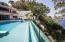 Giant pool overlooking ocean