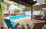 Back terrace and pool