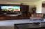built in tv and shelving unit.