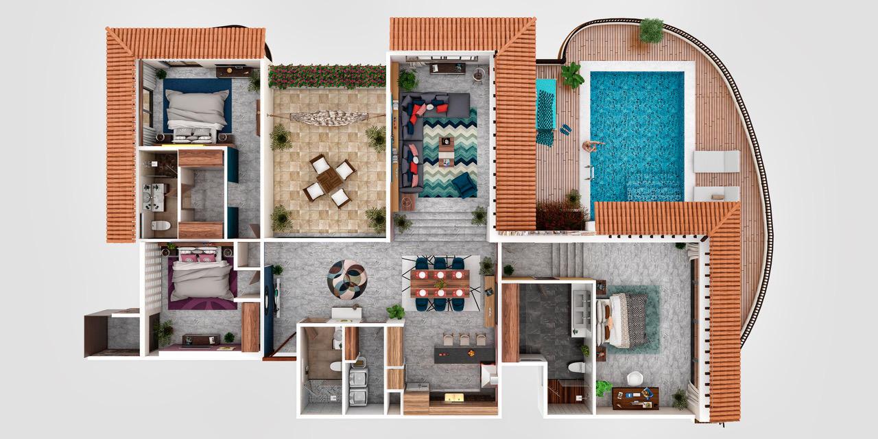 La Cruz de Huanacaxtle, 3 Bedrooms Bedrooms, ,3 BathroomsBathrooms,Condo,For Sale,Zalcetas / Prol. Tiburon,18970