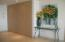 Foyer entrance with storage closets