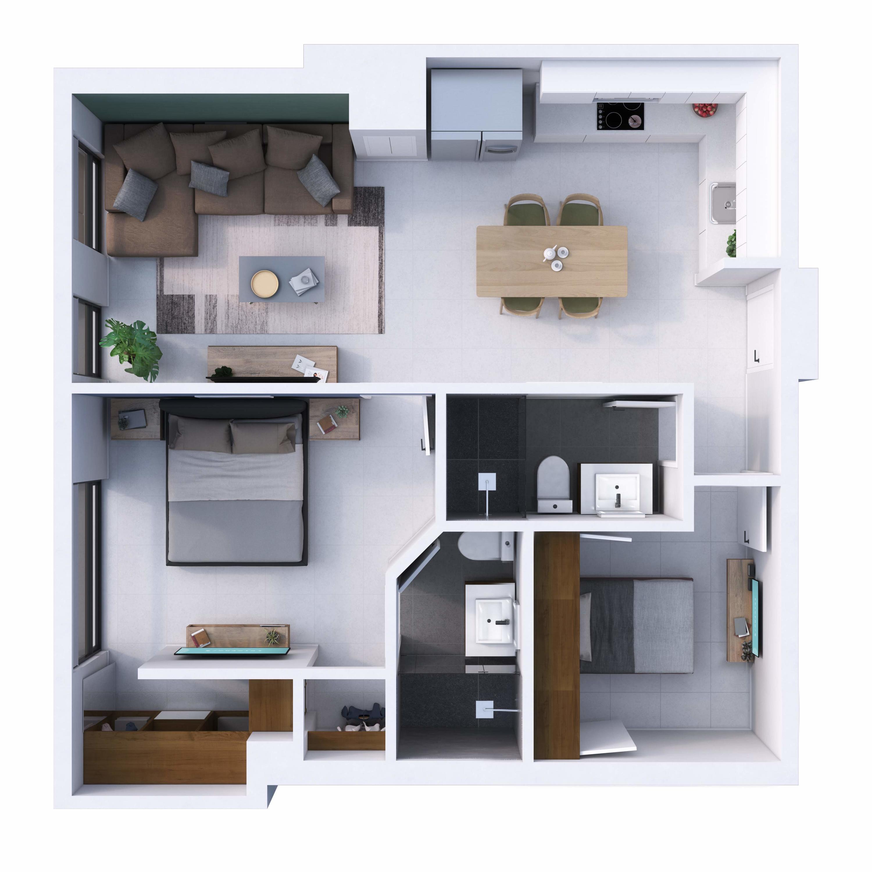 Progresso/Universidad, 2 Bedrooms Bedrooms, ,2 BathroomsBathrooms,Condo,For Sale,Av. Mexico,20811