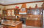 Custom kitchen. Fully furnished with all amenities, granite counters, custom cabinets.