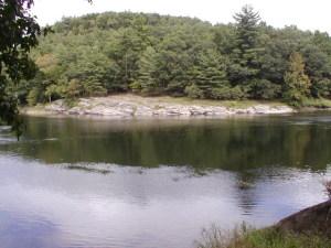 Across river view