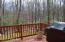 small deck off screened porch