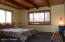 Wood ceilings; large and spacious room