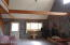 Open Concept. Wood fireplace & vaulted ceilings