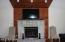 Brick faced fireplace