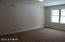 Here is the view of the master bedroom from its entryway. Lots of natural light and brand new carpet!