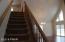 Stairway to loft.