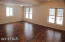 Fully finished family room with lots of light and walk-out doors.