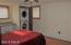 Bedroom 4 showing washer dryer