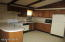 Ample counter top area. Island from Dining area to Kitchen.