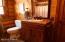1st floor bath with tub has tile floor