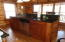 Kitchen island with granite counter top/bar area