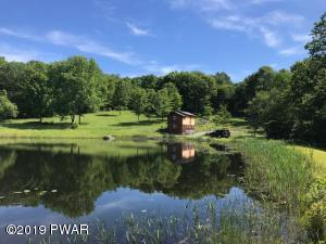 25.4 ACRES - STREAM -POND - BARN AND UNFINISHED CABIN