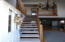 Stairway to bedrooms and loft