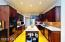 Dream Kitchen! - cherry cabinets, corian countertops, stainless steel French door refrigerator, kitchen island, double oven, brick back splash, with hardwood flooring