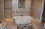 Walk Around Shower with Large Soaker Tub - Get That Wine Ready!!