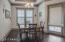 Dining area with tray ceiling!
