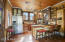 Country kitchen with snack bar and HUGE pantry!