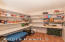 Spacious walk in pantry