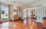 From LR towards foyer. Stunning floors, soothing custom colors throughout.
