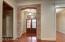 Brick arch over foyer entrance