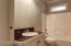 Hall bath next to bedroom 2