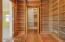 Library & cedar closet for seasonal storage.