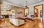 Open floor plan with hard wood oak flooring