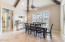 The dining room is large and perfect for families and get togethers!