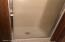 Shower stall of 2nd bathroom