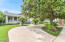 Large semi circle driveway as you pull up to your dream home,