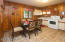 Large kitchen with eat-in dining provides plenty of room to design the ideal get-away kitchen.