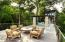 """Part of 5000 sq ft of Ipe decking leading to the South """"Pod"""" or wing of homes"""