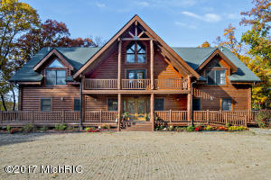 rustic log home on acreage